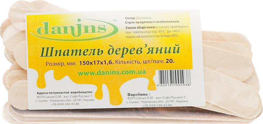 Шпателя деревянные большие - Danins