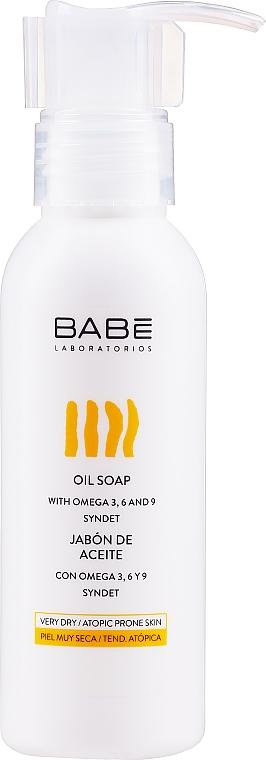Масляное мыло для душа с формулой без воды и щелочи в тревел формате - Babe Laboratorios Oil Soap Travel Size
