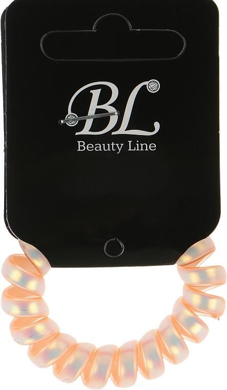 Резинка для волос, 405003, персиковый перламутр - Beauty Line