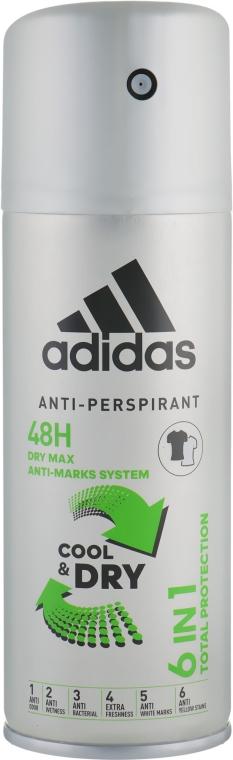 Дезодорант - Adidas Anti-Perspirant Cool&Dry 6 in 1 48H