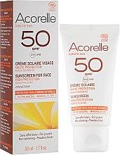 Духи, Парфюмерия, косметика Солнцезащитный крем для лица с эффектом пудры - Acorelle Sunscreen High Protection SPF50