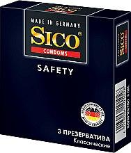 """Парфумерія, косметика Презервативи """"Safety"""", класичні, 3 шт. - Sico"""