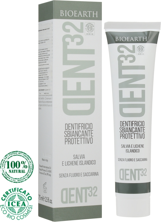 Отбеливающая зубная паста - Bioearth Dent32 Brightening Toothpaste