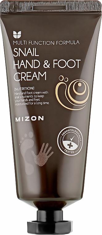 Крем для рук и ног с муцином улитки - Mizon Snail Hand And Foot Cream