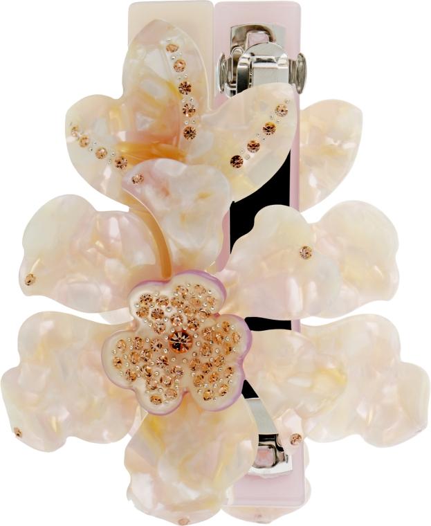 """Заколка-автомат для волос """"Орхидея"""", 0807, молочная - Элита"""