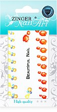 Духи, Парфюмерия, косметика Наклейки для дизайна ногтей, fda-16, fcb-3 - Zinger Nail Art Sticker 116 QS