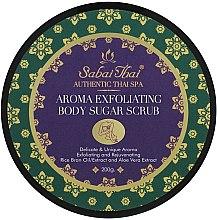 Духи, Парфюмерия, косметика Скраб для тела с маслом рисовых отрубей и алоэ вера - Sabai Thai Rice Milk Aroma Exfoliating Body Sugar Scrub
