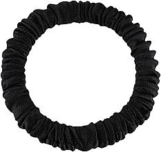 """Духи, Парфюмерия, косметика Резинка для волос из натурального шелка, черная """"Skinny"""" - Makeup Skinny Scrunchie Black"""