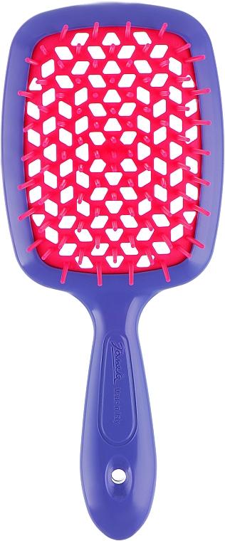 Расческа для волос, малиново-фиолетовая - Janeke Superbrush