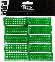 Духи, Парфюмерия, косметика Бигуди пластиковые d25 мм, зеленые - Tico Professional