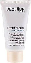 Духи, Парфюмерия, косметика Смягчающая маска для лица - Decleor Hydra Floral White Petal Skin Perfecting Hydrating Sleeping Mask