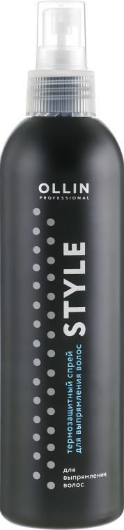 Термозащитный спрей для выпрямления волос - Ollin Professional Style Thermo Protective Hair Straightening Spray