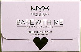Духи, Парфюмерия, косметика Матирующие салфетки для лица - NYX Professional Makeup Bare With Me Hemp
