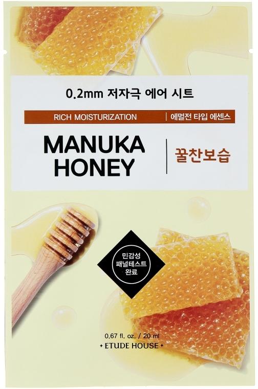 Ультратонкая маска для лица с экстрактом меда манука - Etude House Therapy Air Mask Manuka Honey