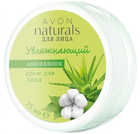 """Увлажняющий крем для лица """"Алоэ и Хлопок"""" - Avon Naturals"""
