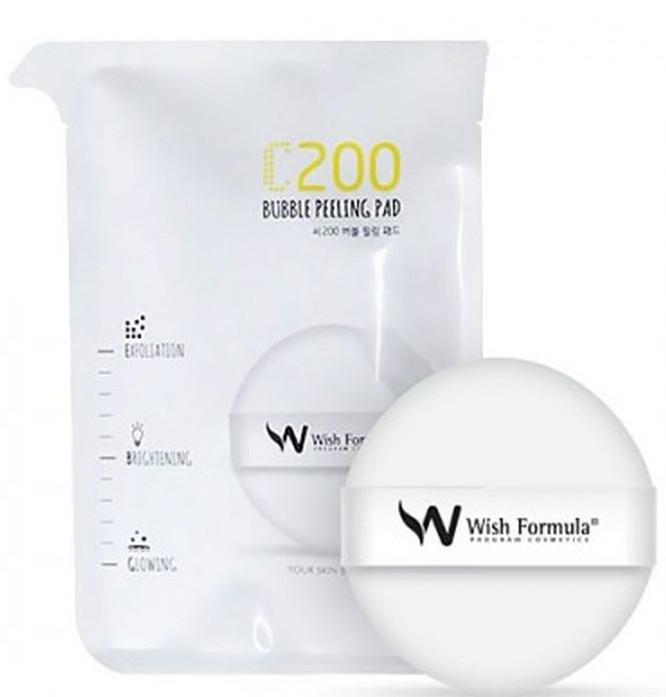 Спонж-пилинг для лица с витамином С - Wish Formula C200 Bubble Peeling Pad