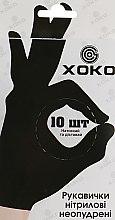Духи, Парфюмерия, косметика Одноразовые перчатки нитриловые без пудры, размер M, черные - XoKo