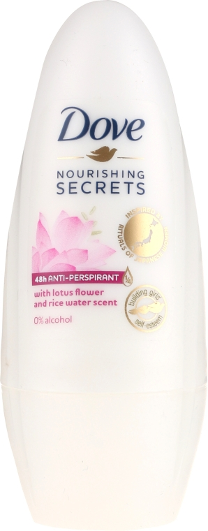 Антиперспирант шариковый - Dove Nourishing Secrets Lotus Flower & Rice Milk Antiperspirant Roll-On