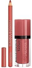 Духи, Парфюмерия, косметика Набор - Bourjois Rouge Edition Velvet Lipstick Beau Brun (lipstick/7.7ml + lip/pencil/1.14g)