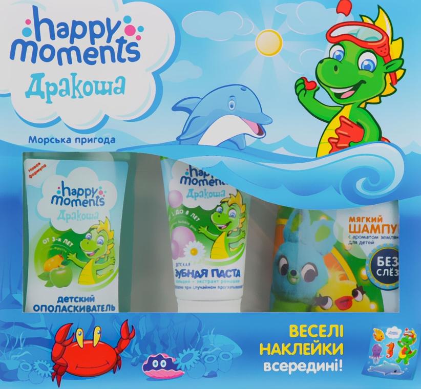"""Набор """"Морское приключение"""" - Дракоша Happy Moments (shmp/240ml+t/paste/60ml+mouthwash/250ml+stickers)"""