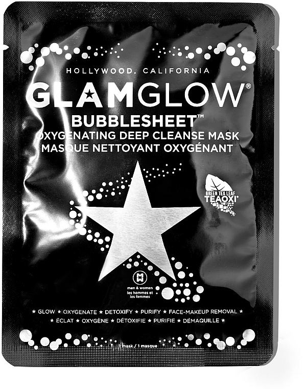 Очищающая маска для лица - Glamglow Bubble Sheet Mask