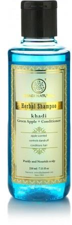 """Натуральный травяной шампунь-кондиционер """"Яблоко"""" - Khadi Natural Ayurvedic Green Apple + Conditioner Hair Cleanser"""