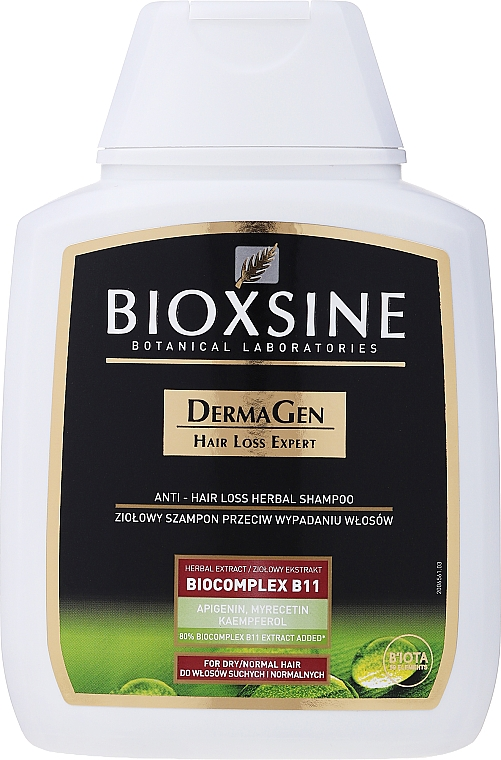 Растительный шампунь против выпадения для сухих и нормальных волос - Biota Bioxsine Femina Herbal Shampoo Against Hair Loss