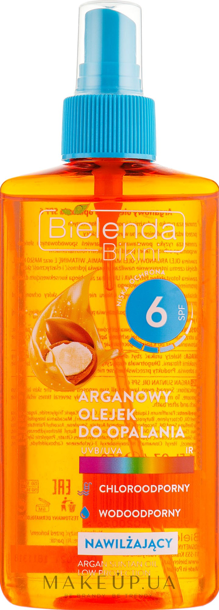 Аргановое масло для загара SPF6 - Bielenda Bikini Argan SunTan Oil — фото 150ml