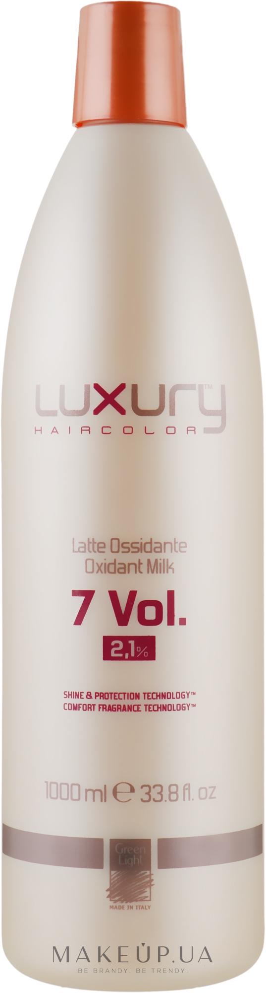 Молочний Оксидант - Green Light Luxury Haircolor Oxidant Milk 2.1% 7 vol. — фото 1000ml