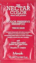 """Духи, Парфюмерия, косметика Шампунь """"Стойкость цвета"""" для жестких волос - Nook The Nectar Color Color Preserve Shampoo (пробник)"""