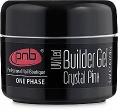 Духи, Парфюмерия, косметика Однофазный моделирующий гель прозрачно-розовый - PNB UV/LED One Phase Builder Gel Crystal Pink (мини)