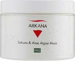 Маска для чувствительной и куперозной кожи с экстрактом сакуры и алоэ - Arkana Sakura & Aloe Algae Mask  — фото N1