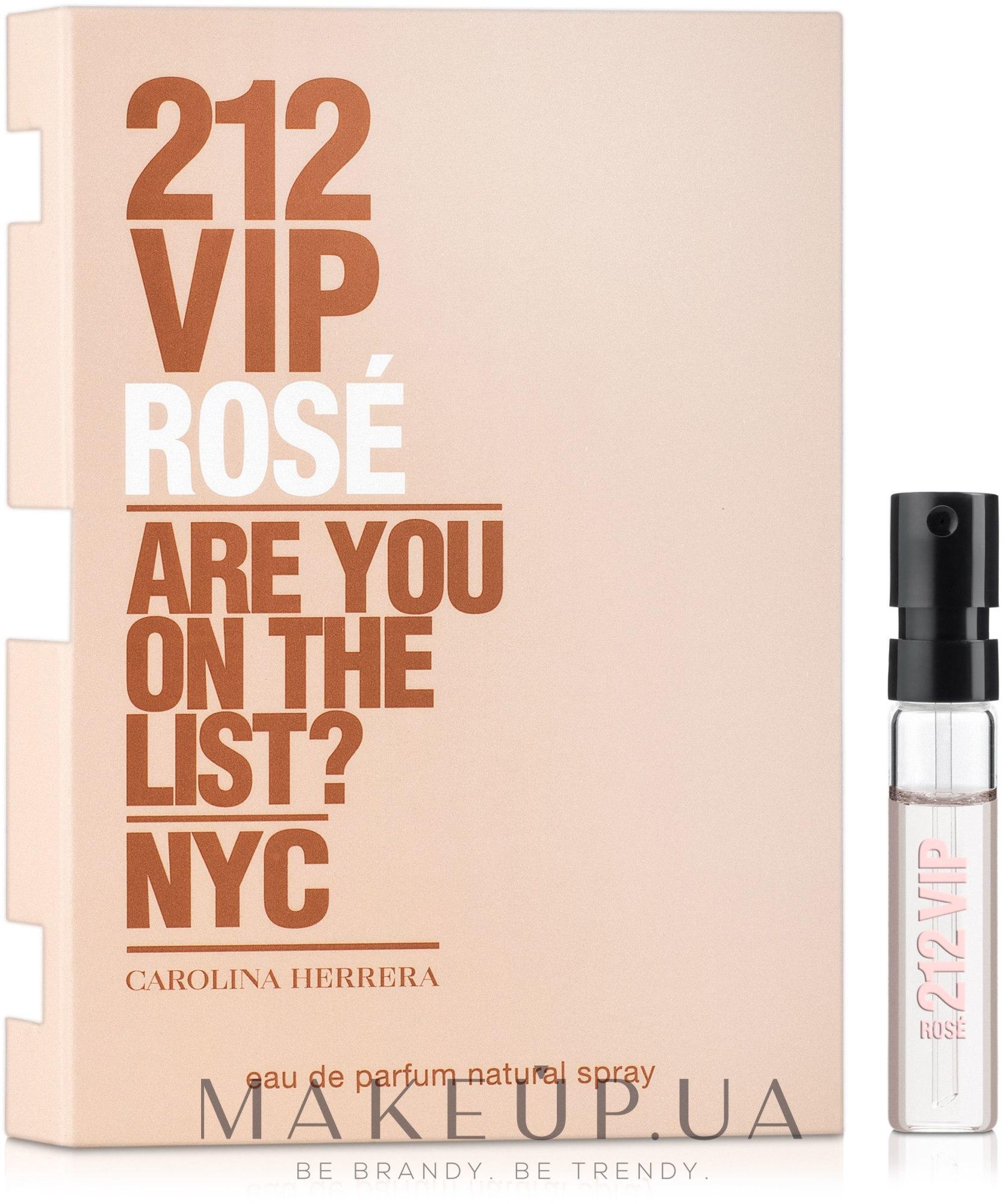 Carolina Herrera 212 Vip Rose - Парфюмированная вода (пробник) — фото 1.5ml