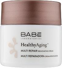 Парфумерія, косметика Нічний мультивідновлюючий крем з антивіковим комплексом - Babe Laboratorios Healthy Aging Multi Repair Renovating Cream