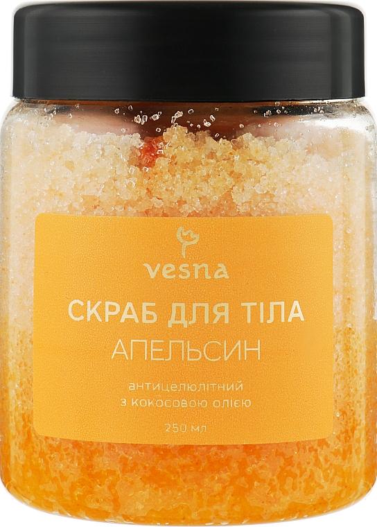 """Восстанавливающий скраб для тела """"Апельсин"""" - Vesna Body Care Scrub"""