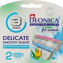 Духи, Парфюмерия, косметика Сменные кассеты для бритья, 3 лезвия - Deonica For Women