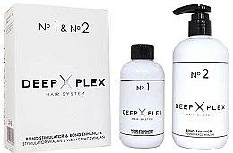 Духи, Парфюмерия, косметика Система защиты и восстановления волос - Stapiz Deep Plex System No.1 & No.2 Set (hair/emulsion/150ml+hair/emulsion/290ml)