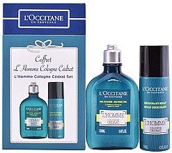 Духи, Парфюмерия, косметика L'Occitane L'Homme Cologne Cedrat - Набор (deo/130ml + sh/gel/250ml)