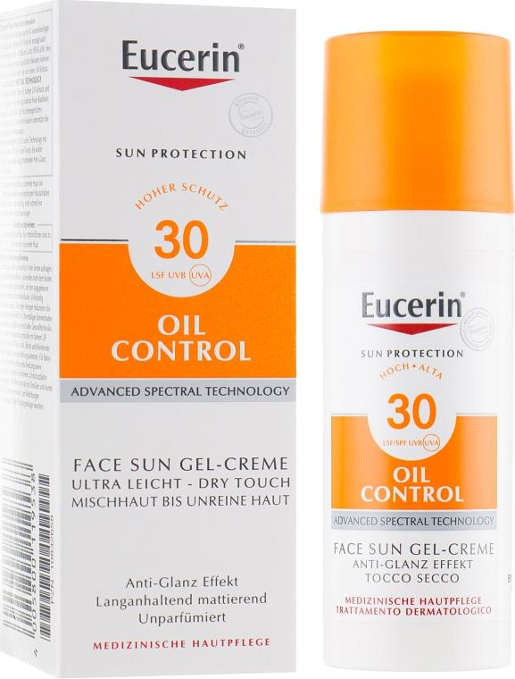 Гель-крем солнцезащитный для жирной кожи и склонной к акне - Eucerin Sun Gel-Cream SPF30