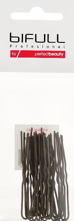 Заколки-невидимки для шиньона, 55 мм, бронзовые - Bifull Professional