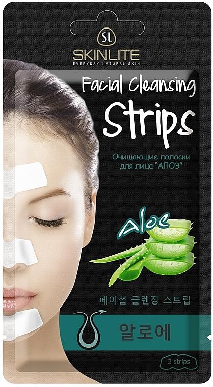 """Полоски для глубокого очищения пор носа """"Алоэ"""" - Skinlite Nose Pore Strips Aloe"""