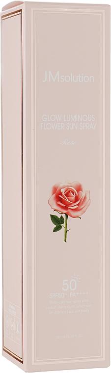 Солнцезащитный спрей-мист SPF50+/PA++++ - JMsolution Glow Luminous Rose Flower Sun Spray