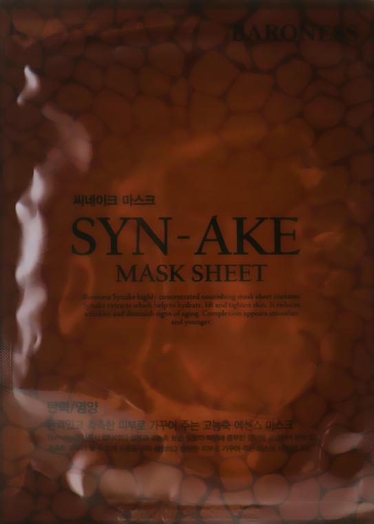 Тканевая маска с ядом змеи - Beauadd Baroness Mask Sheet Syn-Ake