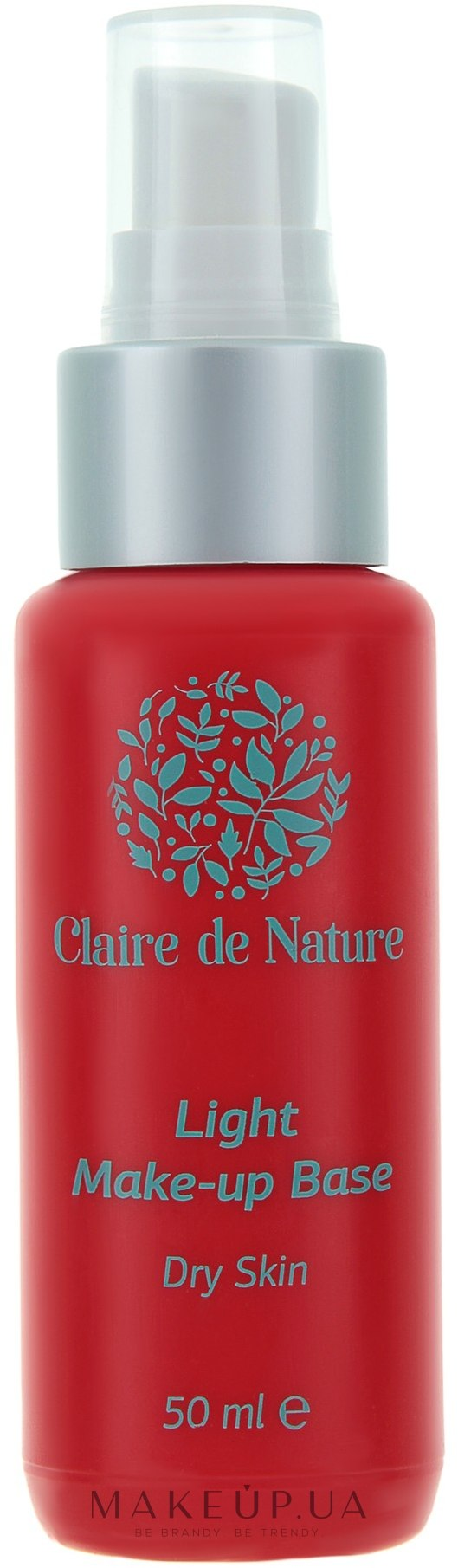 Легкая база под макияж для сухой кожи - Claire de Nature Light Make-up Base Dry Skin — фото N1