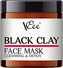 Духи, Парфюмерия, косметика Маска для лица с черной глиной - VCee Black Clay Face Mask Cleansing&Detox