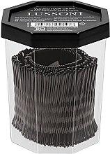 Парфумерія, косметика Невидимки хвилясті для волосся, 6 см, чорні - Lussoni Waved Hair Grips Black