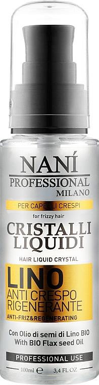 Жидкие кристаллы для волос с льняным маслом - Nanì Professional Milano Linen Hair Liquid