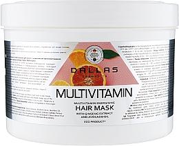 Духи, Парфюмерия, косметика Энергетическая маска для волос с комплексом мультивитаминов, экстрактом женьшеня и маслом авокадо - Dallas Cosmetics Multivitamin