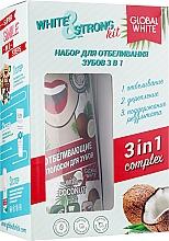 Духи, Парфюмерия, косметика Набор - Global White White & Strong Kit (foam/50ml+gel/40ml+strips/7pcs)