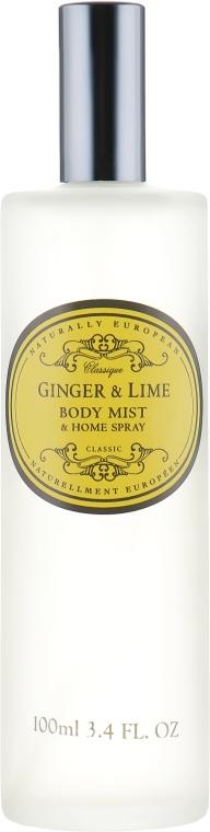 "Ароматический спрей ""Имбирь и лайм"" - The Somerset Toiletry Co. Naturally European Body Mist & Home Spray Ginger & Lime — фото N2"